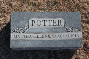 Tombstone of Isaac Potter