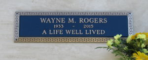 Grave Marker for Wayne M. Rogers, III