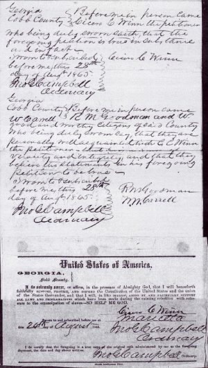 Cicero Winn  Amnesty Papers Petition for Pardon Page 4
