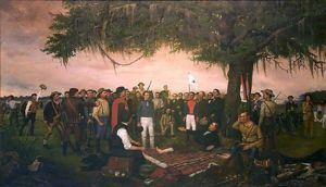 Santa Anna Surrenders to Sam Houston