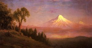 Mount St. Helens, Columbia River, Oregon by Albert Bierstadt