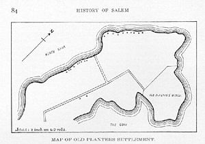 Map of Old Planters Settlement