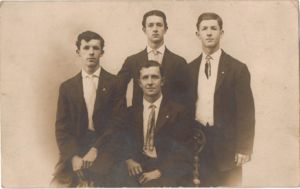 Miller Brothers: Emanuel seated. left Alfred, William and Reuben