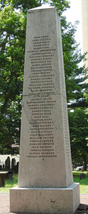 Founders of Hartford Monument : North Face