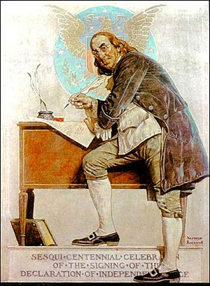 Benjamin Franklin by Norman Rockwell