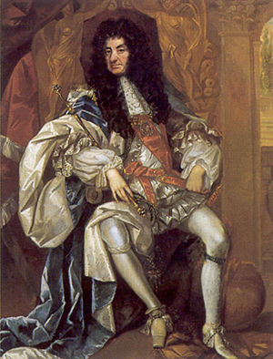 Charles II at age 55 by Thomas Hawker.