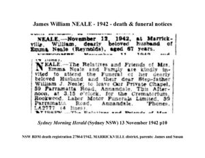 William James Neale (abt 1875-1942) | WikiTree FREE Family Tree