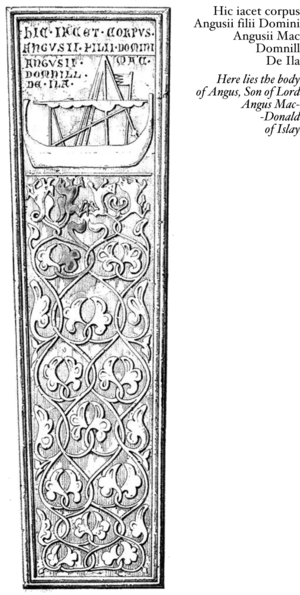 Sketch of Angus Og Macdonald, Lord of the Isles, Grave Slab