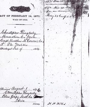 Christopher Ringlesby War of 1812 Service Records Image 1