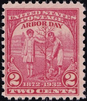 Arbor Day 2 Cents US Postage