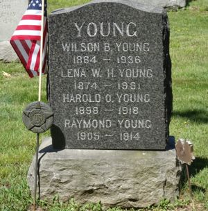 Young headstone