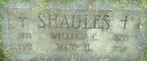 Gravestone for William Edward & Mary Helen Connolly Shaules