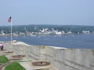 View of Bucksport from Fort Knox