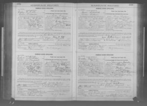 Marriage License Application, Galen W. Rote & Lulu Craun
