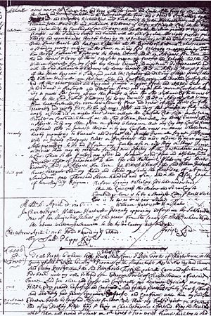 William Hartwell to Nathaniel Whittaker 42 Acres Concord 01 Apr 1706 for 38 Pounds Page 2