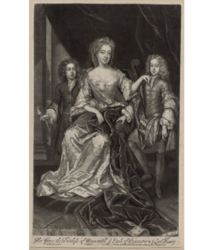 Anna Duchess of Buccleuch and her sons