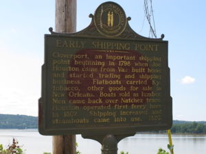 Historical Ohio Ferry Sign