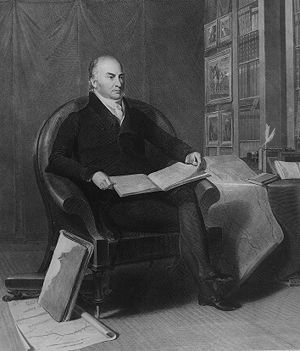 John Quincy Adams engraved by A. B. Durand.