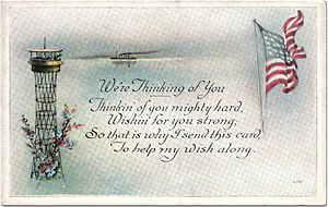 'We're Thinking of You' Sailor Postcard