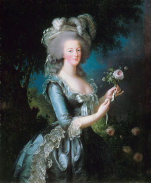 Marie Antoinette with the rose.