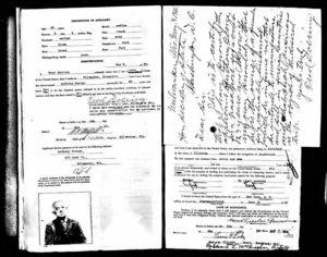 Antonio Giorgio passport application, p.2