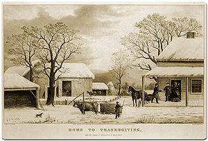 Currier and Ives Thanksgiving