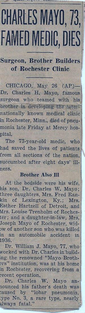 Charles Horace Mayo (1865-1939) | WikiTree FREE Family Tree
