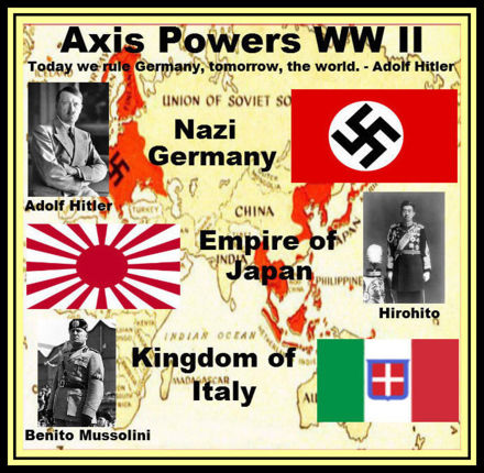 wwii allies axis powers