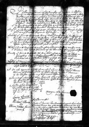 Will of Morgan James, 1737