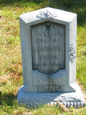 Anna Cook Ellis Wing headstone