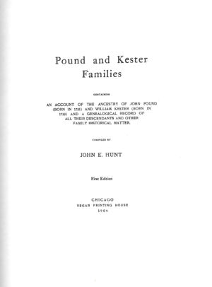Pound and Kester Families