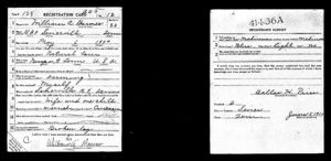 William Barnes - World War I Registeration Card