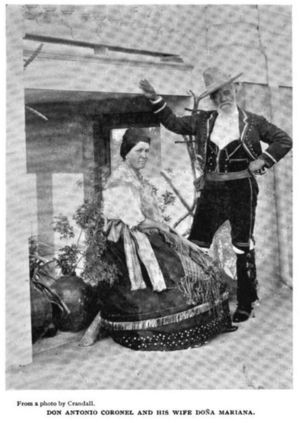Photograph of Don Antonio Coronel and his wife Mariana