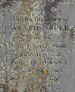 Tombstone of Asaph Soule