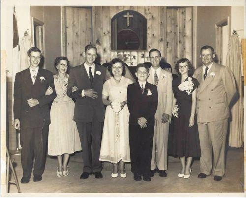 Kabrich-Lawrence Wedding, 1952