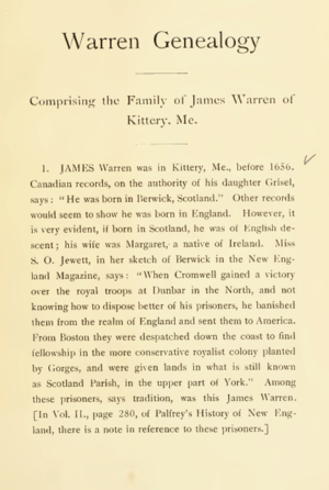 Warren Genealogy
