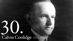 Calvin Coolidge 30th President