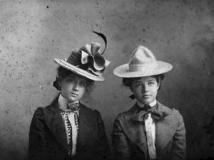 Young Bess Wallace (left) & her friend, Mary Paxton 1901