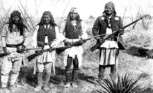 Geronimo on the right, in northern Mexico in 1886. Photo taken by C. S. Fly
