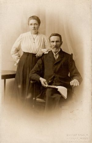 William Cowan and Ellen Cowan in October 1917