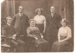 Lucy Miller (centre of picture), her mother, sister and three brothers