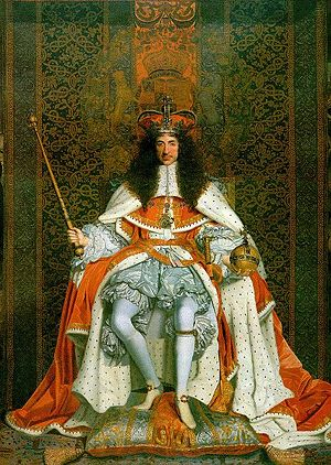 Charles II enthroned (painting).