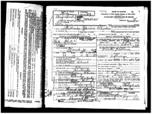 William Marion Rhodes death certificate