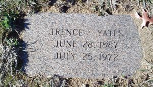 Trence Yates Burial Marker
