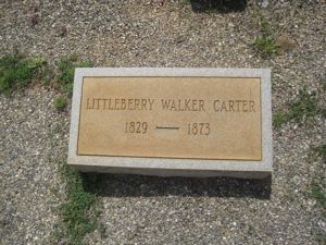 Littleberry Carter Headstone