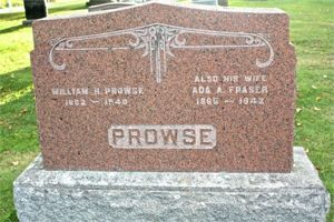 Gravestone - William H and Ada (Fraser) Prowse