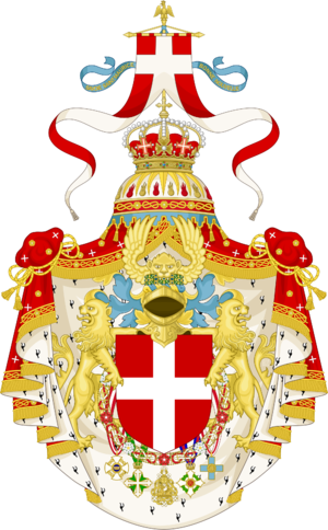 Arms of the house of Savoy and the Kings of Italy