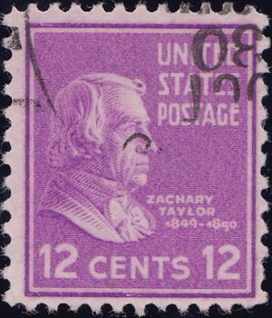 Zachary Taylor 12 Cents US Postage