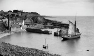 Crail Harbour in 1890.