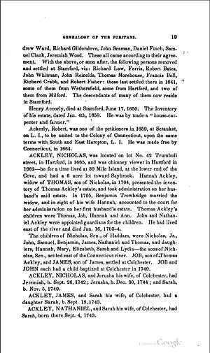 Catalogue of the Names pg 19